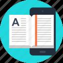 book, digital, ebook, education, mobile, phone, read