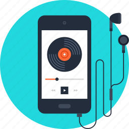 entertainment, media, mobile, multimedia, music, phone, player icon