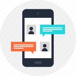 chat, communication, connection, message, mobile, phone, sms icon