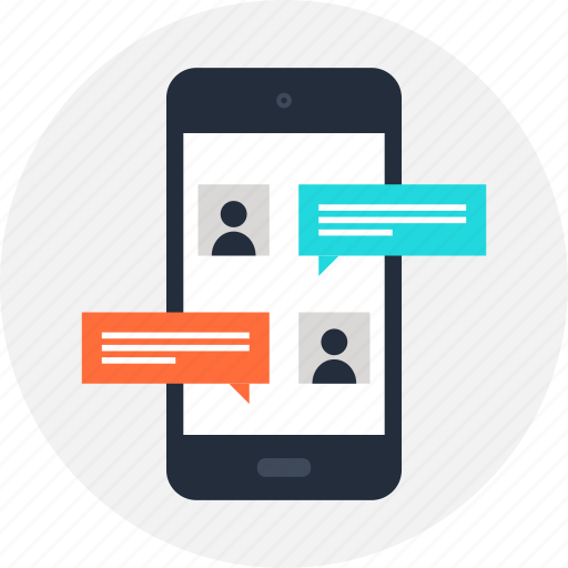 Chat, communication, connection, message, mobile, phone, sms icon - Download on Iconfinder