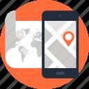 address, gps, location, map, mobile, navigation, phone icon