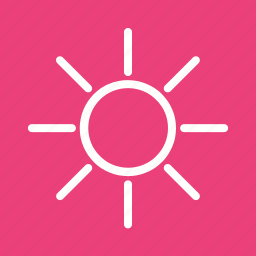 bright, brightness, device, display, light, sun, sunlight icon