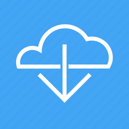 arrow, cloud based, down, download, downloading, upload icon
