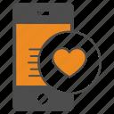heart, love, mobile, smartphone icon