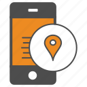 location, map, mobile, smartphone icon