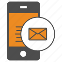 mail, message, mobile, smartphone icon