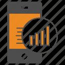 analysis, mobile, price, smartphone icon