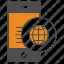 internet, mobile, smartphone, world icon
