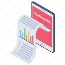 account statement, balance statement, bank statement, online account statement, online statement icon