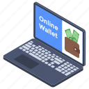 digital wallet, ebanking, online banking, online savings, online wallet icon