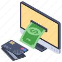 ebanking, internet banking, online banking, online deposit, online payment icon