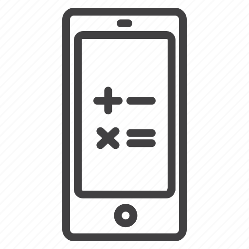 business, calculation, mobile icon