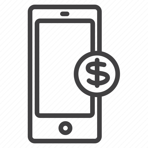 business, dollar, mobile, payment icon