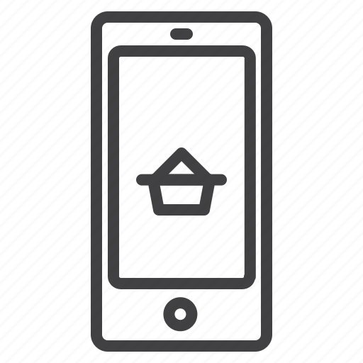 business, cart, mobile, shopping icon