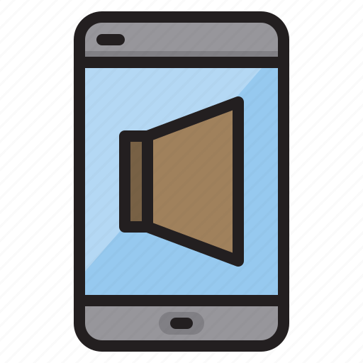 computer, mobile, speaker, technology icon