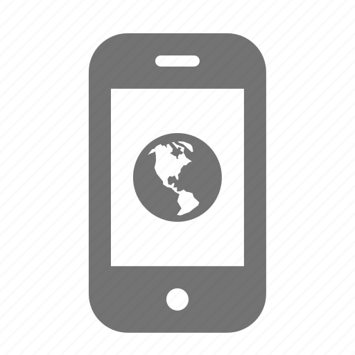 earth, phone, smart icon