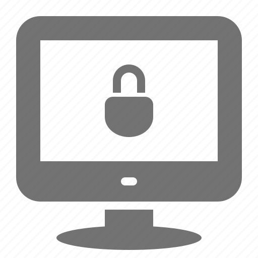 access, computer, desktop, lock, password, protection, security icon