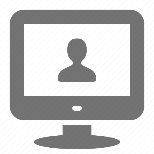 call, computer, conference, desktop, screen, user, video icon
