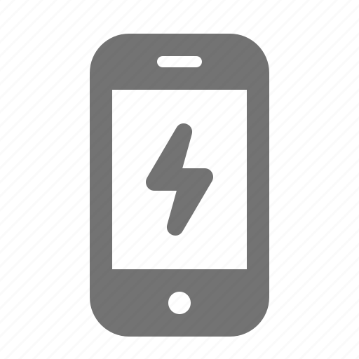 charge, energy, lighting, mobile, phone, power, smart icon