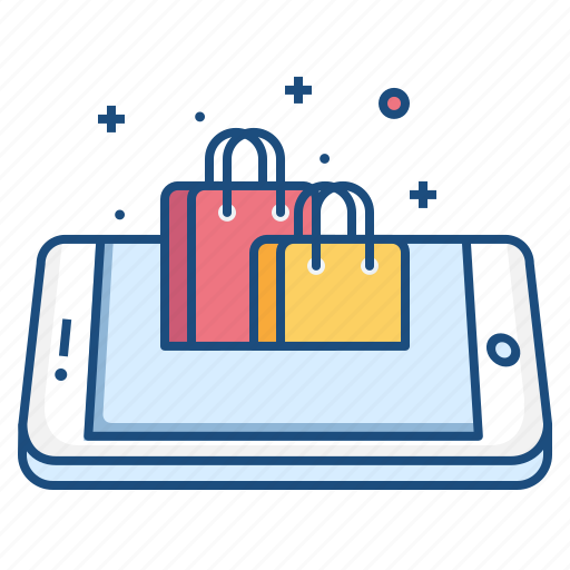 bag, carrybag, concept, mobile, online, shopping, store icon