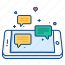 bubble, chat, chatting, communication, concept, mobile, text icon