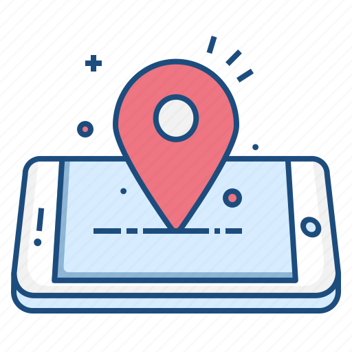 concept, location, mark, mobile, navigation, pin icon