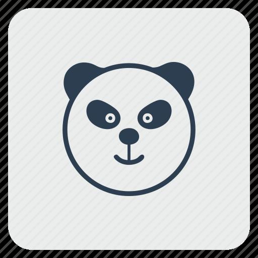 angry, animal, bear, panda, zoo icon