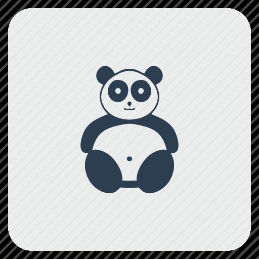 animal, bear, face, head, panda, zoo icon