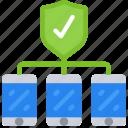 emm, mdm, mobile, network, secure, uem icon