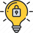 emm, intelligent, lightbulb, mdm, security, uem icon