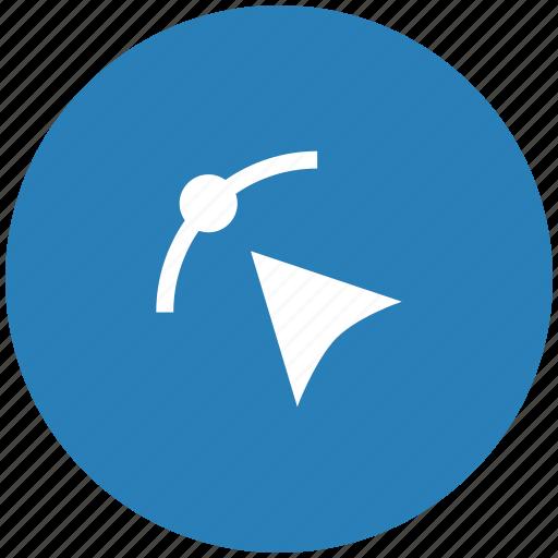 cursor, curve, dot, form, transform icon