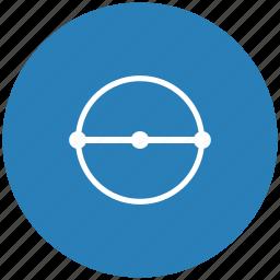diameter, form, geometry, measure, size icon