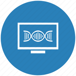 biometry, blood, dna, form, monitor icon