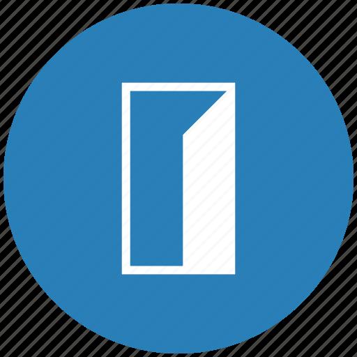 door, enter, exit, form icon