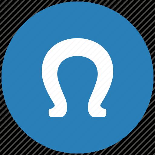form, horseshoe, lucky, omega icon