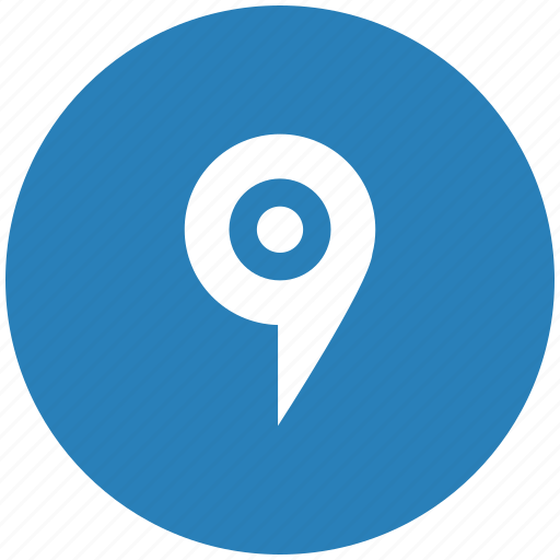 dot, form, map, place, pointer icon