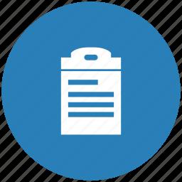 form, list, listing, order icon