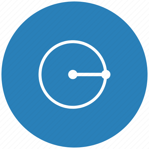 form, geometry, measure, radius, round icon