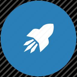 flight, form, rocket, space icon