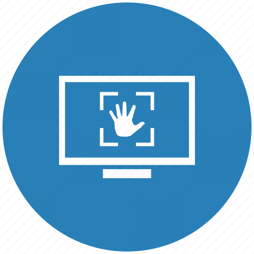 biometry, form, hand, monitor, scan icon