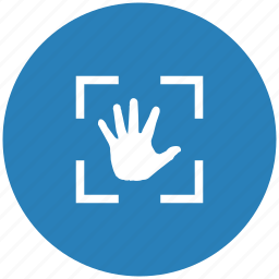 biometry, form, hand, identity, scan, scanner icon