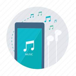 audio, iphone, itune, media, music, player, smartphone icon
