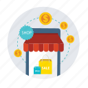 cash, finance, money, payment, sale, shop, shopping icon