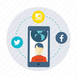 ecommerce, facebook, instagram, media, social, social network, user icon