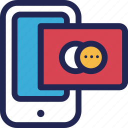 banking, card, credit, finance, online, phone, smartphone icon