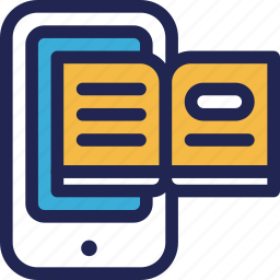 book, ebook, education, file, online, phone, smartphone icon