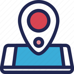 features, gps, location, mobile, phone, smartphone icon