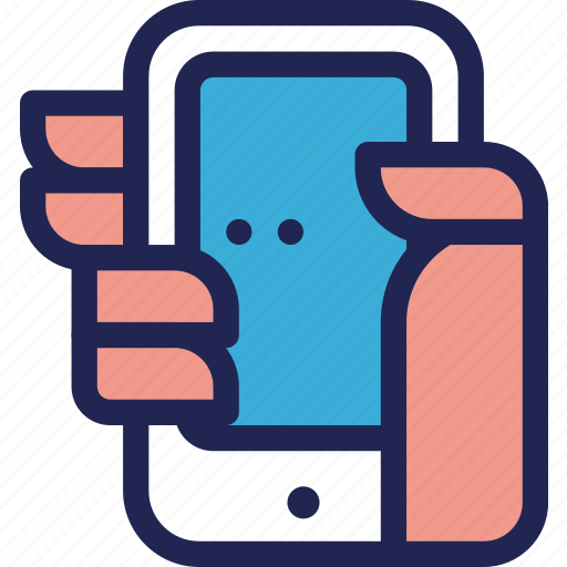 features, hand, mobile, phone, smartphone icon
