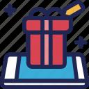 box, cart, ecommerce, gift, shop, shopping, smartphone