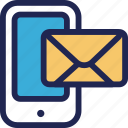 email, features, mail, marketing, mobile, smartphone, website icon